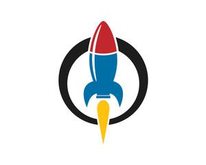 rocket blue red