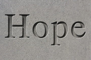 Engraved Word Hope