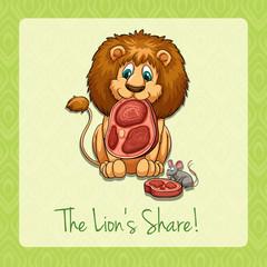 English idiom lion's share