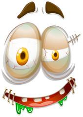 Zombie style facial emojicon