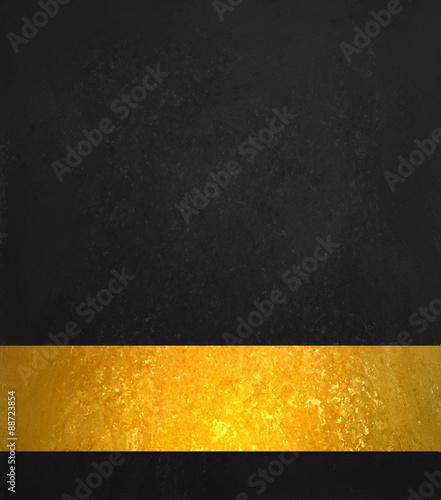 black background luxury shiny gold ribbon black website template
