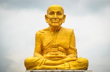 Monks statues