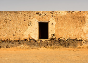 Old colonial buildings  Casa de los Coroneles in La Oliva on Fue