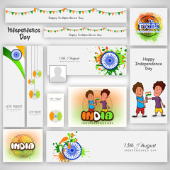 Social media header for Indian Independence Day.