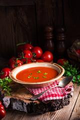 Rustic tomato soup