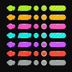 bright colorful buttons
