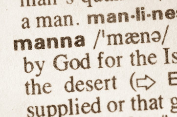 Dictionary definition of word manna