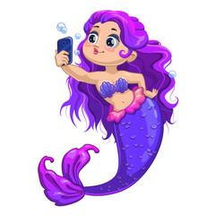 Little cartoon mermaid
