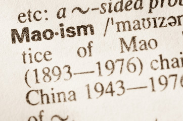 Dictionary definition of word Maoism