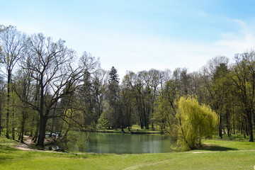 Lake in Maksimir park, Zagreb, Croatia