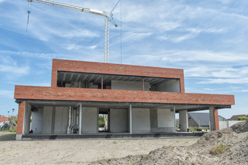 Modern House in Construction