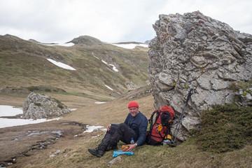 Balkan hiker in Prokletije Mountains