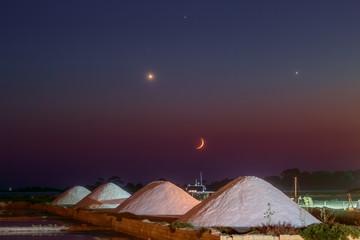 Moon Venus Jupiter Regulus and The Marine Salt Factory 2
