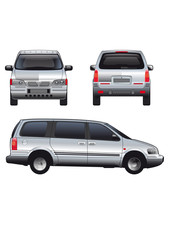 Vector service car template