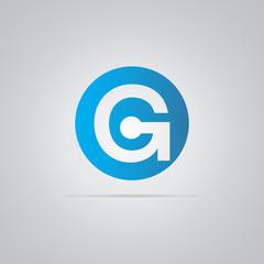 G Tech Logo Icon Vector round Element