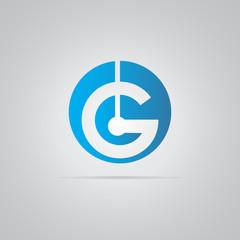 G Tech Logo Vector round Element