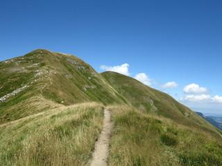 sentiero sulla cresta