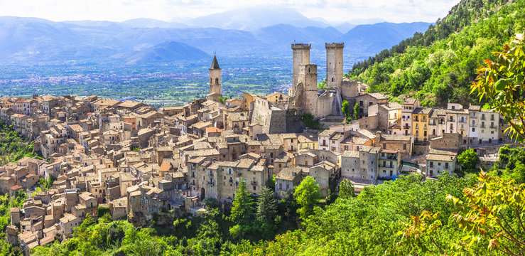 beautiiful medieval villages of Italy - Pacentro (Abruzzo)