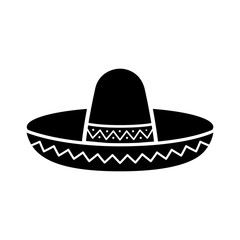 Sombrero / Mexican hat flat icon for apps and websites