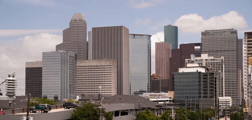 Houston Texas City Skyline South Side Downtown