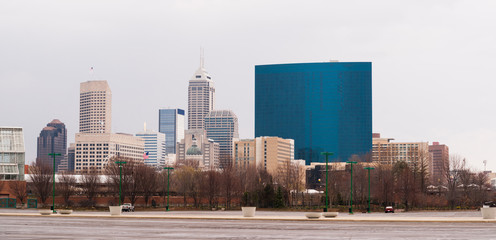 Indianapolis Indianna Downtown Urban City Skyline Midwest USA