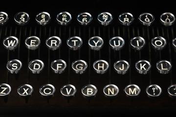Old vintage typewriter keys