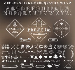 Set design elements labels Hand drawn vector