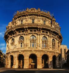 building of stock exchange in Genoa, Italia