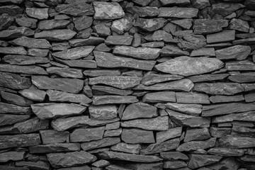 Black wall stone background