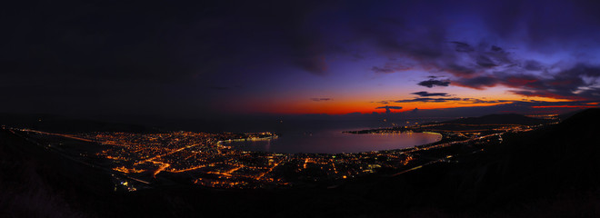 Панорама вечерней бухты