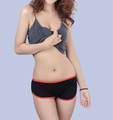 Beautiful slim woman body
