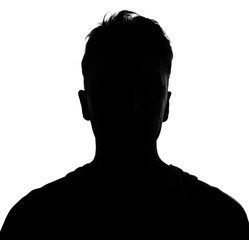 Male person silhouette