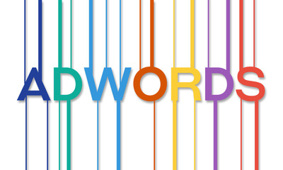 Adwords Word With Striped Flat Design