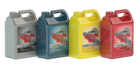 canisters motor oil