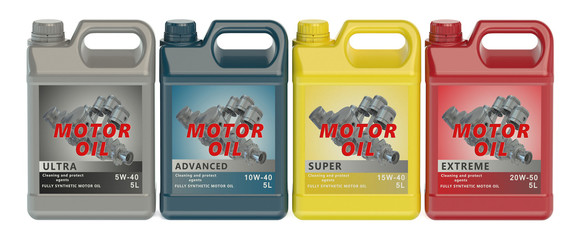 set of canisters motor oil