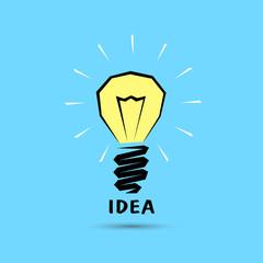 concept of successful idea bulb shape.