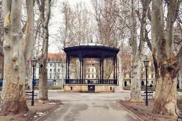 Music pavilion at Zrinjevac park, Zagreb, Croatia Wall mural