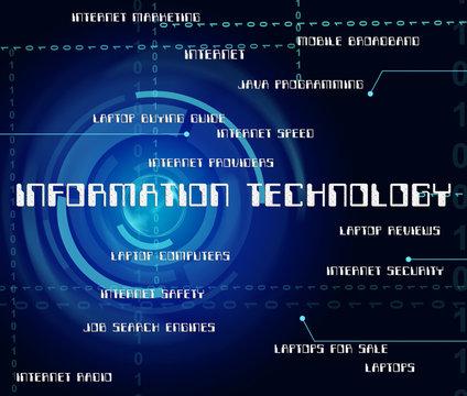 Information Technology Shows Internet Communication And Computin
