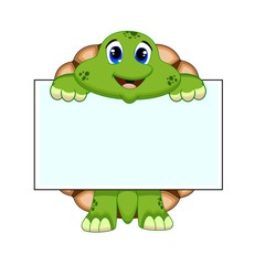 Turtle with white board