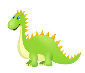 cute cartoon dinosaur on white. vector
