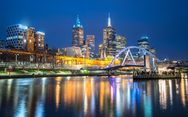 Melbourne city night life, Australia.