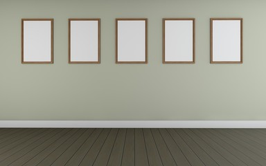Art Gallery perspective two point and five Picture Frame wall monocom