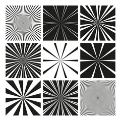 Vector Radial Pattern Graphic Backgrounds