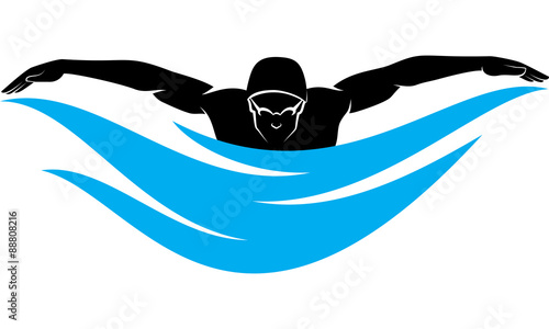 Quot Swimming Butterfly Stroke Male Quot Stock Image And Royalty