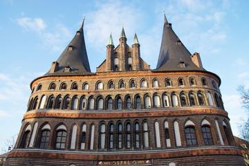 Holstentor, Wahrzeichen der Stadt Lübeck, Deutschland
