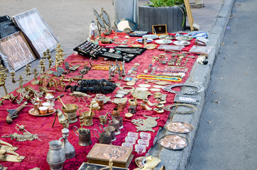 KIEV (KYIV), UKRAINE - August 25: The tourist souvenirs market
