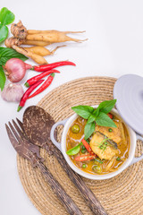 Thai food fish curry