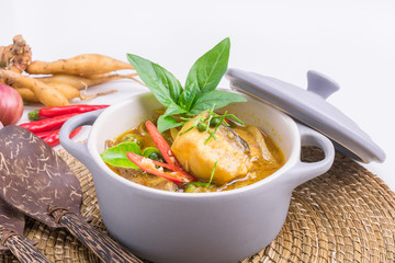 Thai food fish curry