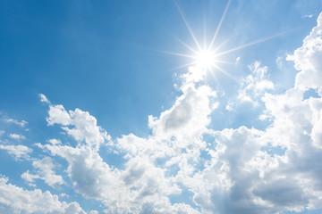 Sun, blue sky