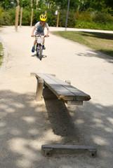 Geschicklichkeitstest Fahrradparcour